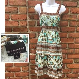 Connected Apparel BOHO Floral Sleeveless Dress M